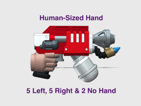 12x Mk3 : Flame Pistols (L&R Human Hands) in Smooth Fine Detail Plastic