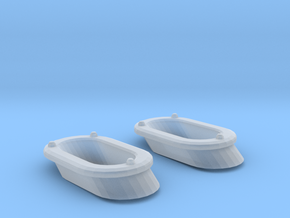 1/72 DKM Destroyer Anchor Chain Cover Set x2 in Smooth Fine Detail Plastic