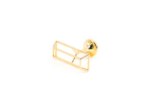 Cufflinks Minimalistic in 14k Gold Plated Brass