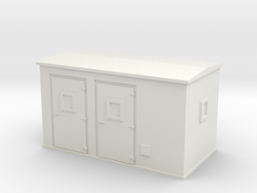 Transformer substation 1/43 in White Natural Versatile Plastic