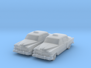 1954 Chevy Taxi (2) N Scale Vehicles in Smooth Fine Detail Plastic