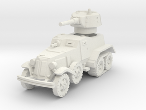BA-10 (with Tracks) 1/76 in White Natural Versatile Plastic
