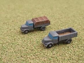 German KHD S3000 Trucks 1/285 in Smooth Fine Detail Plastic