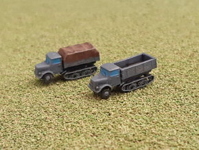 German KHD S3000 Maultier Halftrack Trucks 1/285 in Smooth Fine Detail Plastic