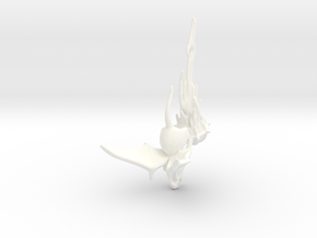 Winged Rat with Plague Censer 2 in White Strong & Flexible Polished