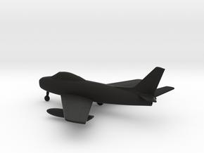 North American F-86A Sabre in Black Natural Versatile Plastic: 1:160 - N