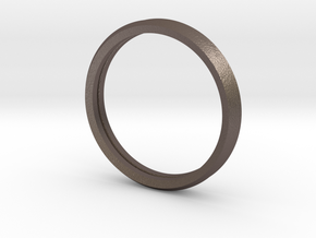 Penta Double Ring by V DESIGN LAB in Polished Bronzed-Silver Steel
