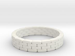 Sandbag Ring 1/76 in White Natural Versatile Plastic