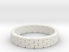 Sandbag Ring 1/72 in White Natural Versatile Plastic