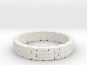 Sandbag Ring 1/48 in White Natural Versatile Plastic