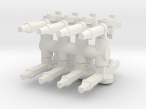 Lewis Gun (x8) 1/87 in White Natural Versatile Plastic