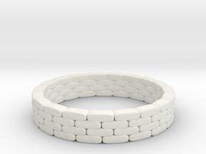 Sandbag Ring 1/24 in White Natural Versatile Plastic