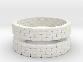 Sandbag Ring (x2) 1/120 in White Natural Versatile Plastic