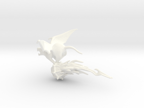 Winged Rat with Plague Censer 1 in White Strong & Flexible Polished