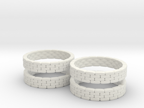 Sandbag Ring (x4) 1/200 in White Natural Versatile Plastic