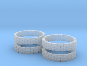 Sandbag Ring (x4) 1/285 in Smooth Fine Detail Plastic