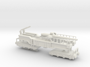 24cm kanone theodor l/40 railway Gun ho German  in White Natural Versatile Plastic