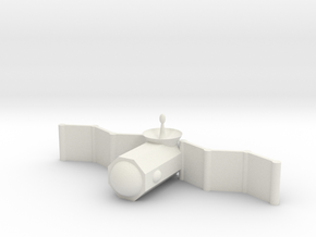 [1DAY_1CAD] SATELLITE (1/4 size) in White Natural Versatile Plastic