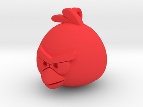 Angry Birds-Red Keychain in Red Processed Versatile Plastic