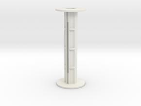 120 Film Spool in White Natural Versatile Plastic