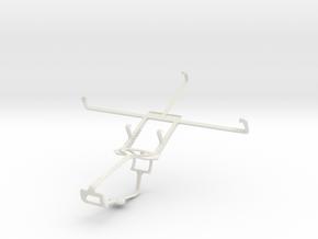 Controller mount for Xbox One & ZTE Grand Memo V98 in White Natural Versatile Plastic