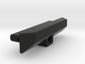 SCX24 Custom Crawler rear bumper with hitch receiv in Black Natural Versatile Plastic