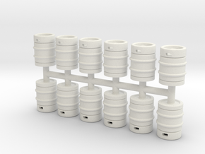 Beer Barrel 01. 1:50 Scale  in White Natural Versatile Plastic