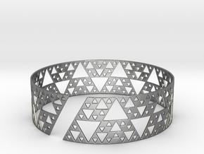 Sierpinski Bracelet in Polished Silver