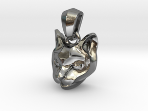Cat Pendant in Polished Silver (Interlocking Parts)