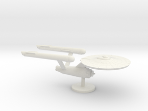2500 Scale Federation Heavy Cruiser (CAR) WEM in White Natural Versatile Plastic