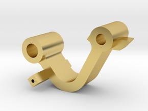 Scharnier_Knie in Polished Brass
