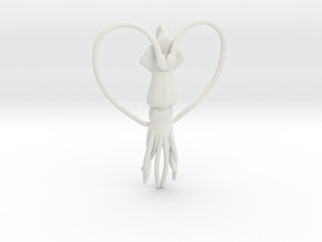 Squid Heart in White Natural Versatile Plastic