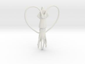 Squid Heart in White Natural Versatile Plastic