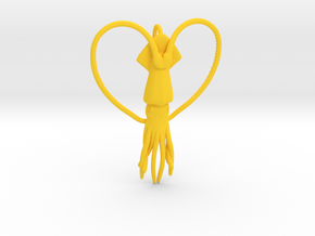 Squid Heart in Yellow Strong & Flexible Polished