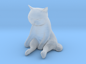 1/12 Cute Cat Sitting in Smooth Fine Detail Plastic