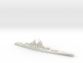 French Battleship Jean Bart (Post War) in White Natural Versatile Plastic: 1:1800