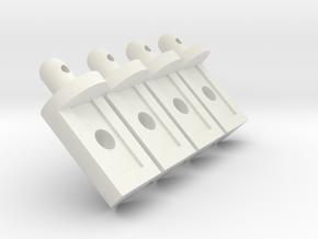 Tamiya Lunchbox Body Pegs in White Natural Versatile Plastic