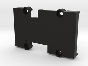 X2.1 Case - Bottom - Horizontal Pins in Black Natural Versatile Plastic