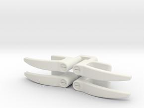 EC135 Door Handles 1/8 in White Natural Versatile Plastic