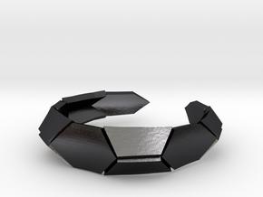 Polygonal Perfection i3 TALLA 6 LAbdGRAFO -  TPA in Polished and Bronzed Black Steel