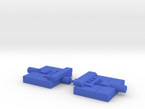 Rescue Bird Jet Brackets in Blue Processed Versatile Plastic