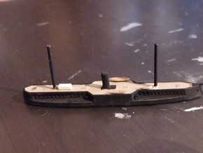 1/1250 Fethi Bulend Class Ironclad in Smooth Fine Detail Plastic