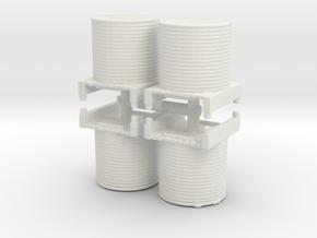 Water Tank (x4) 1/160 in White Natural Versatile Plastic