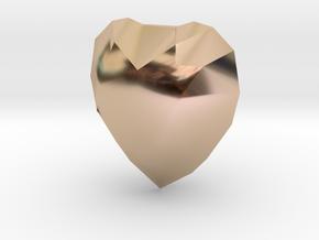 Lucky Heart Charm in 14k Rose Gold