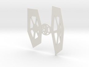 TIE Fighter Warship Wall Hanging in White Natural Versatile Plastic