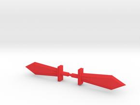 Sludge Dual Swords (Variant) in Red Processed Versatile Plastic