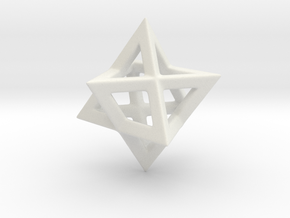 Stella Octangula in White Natural Versatile Plastic