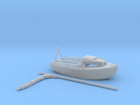 HObat02  - Small boat in Smooth Fine Detail Plastic