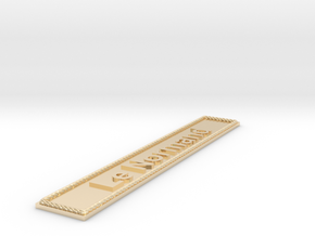 Nameplate Le Normand in 14k Gold Plated Brass
