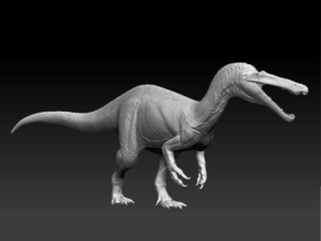 Suchomimus 1/85 and 1/50 Scale Model in White Natural Versatile Plastic: Small